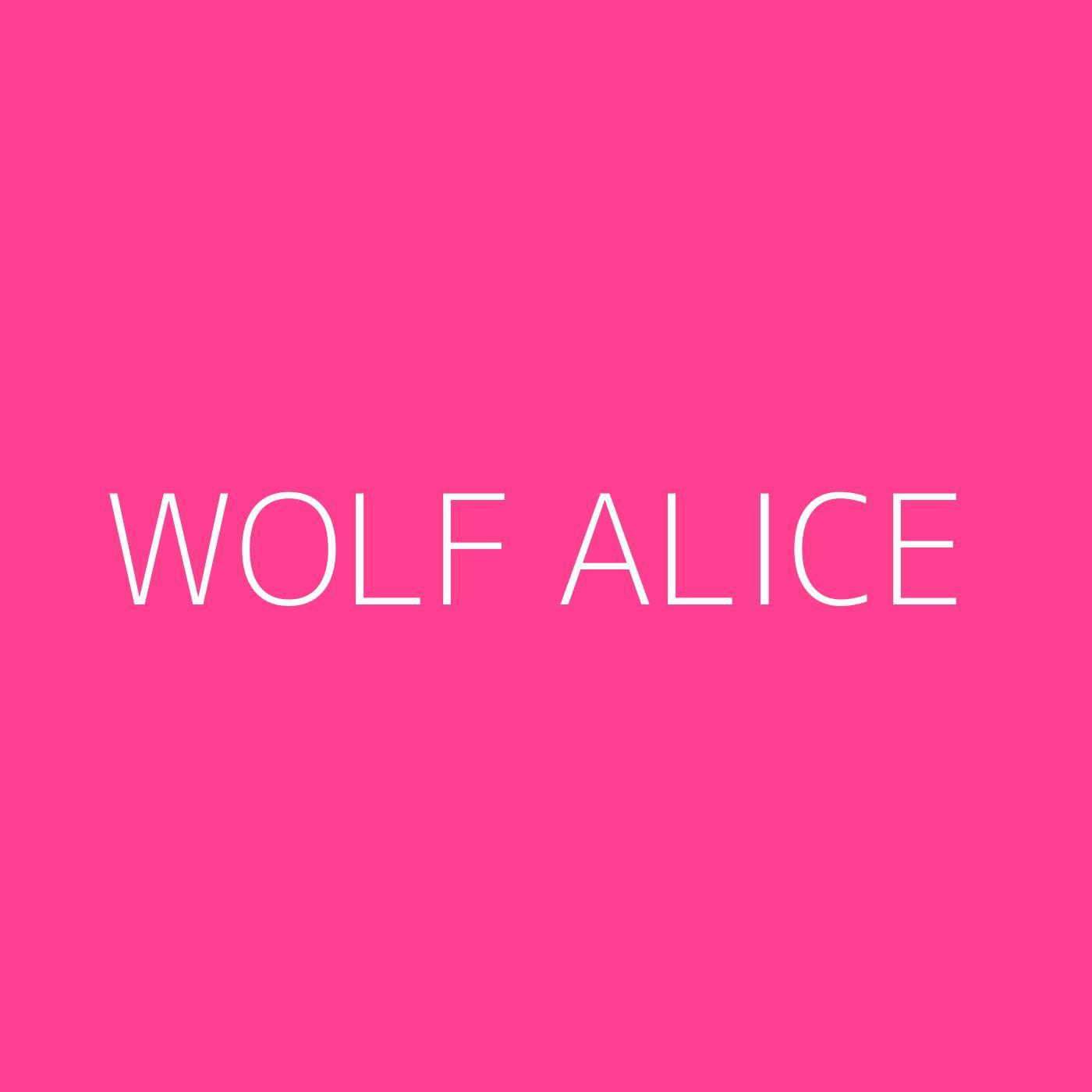 Wolf Alice Playlist Artwork