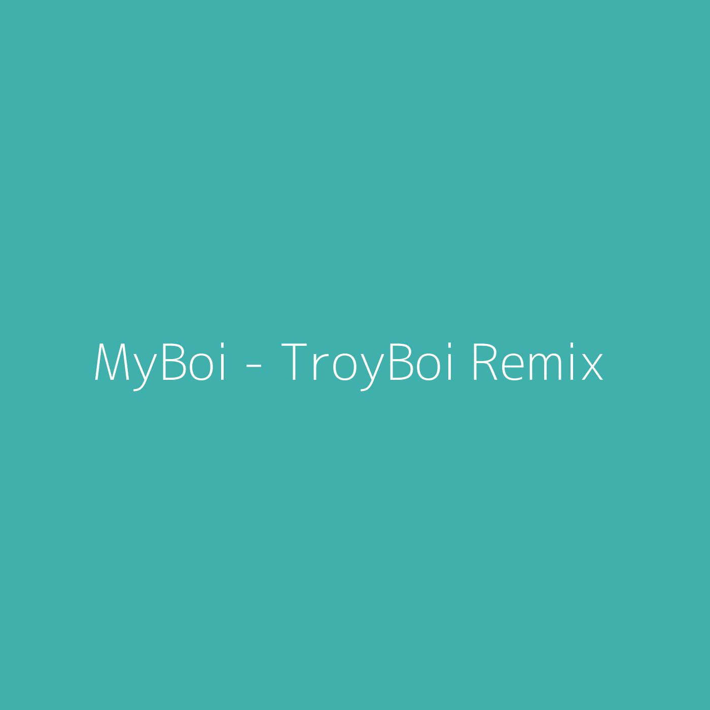 MyBoi - TroyBoi Remix – Billie Eilish
